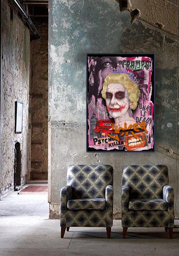 Poster punk queen joker
