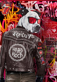 Poster pop Art Affiche Bulldog rock. real art.fr