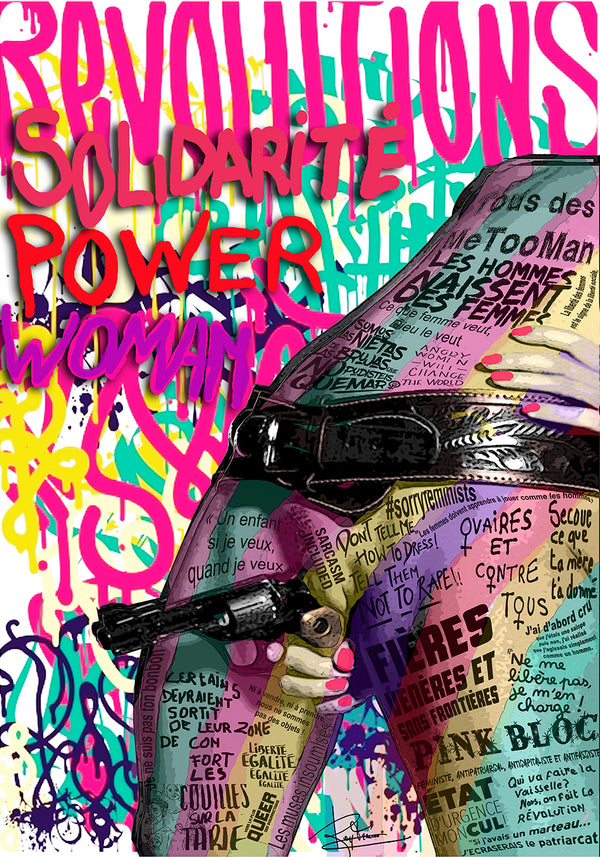 Poster Pop art Girl Power
