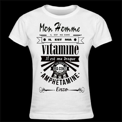 T-shirt femme MON HOMME MA CAME