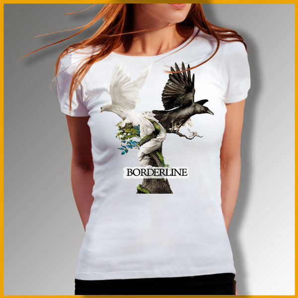 Tee-shirt,t-shirt femme,real-art-fr,unisex, thème, design art, borderline.