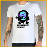 t shirt message homme Dali blanc