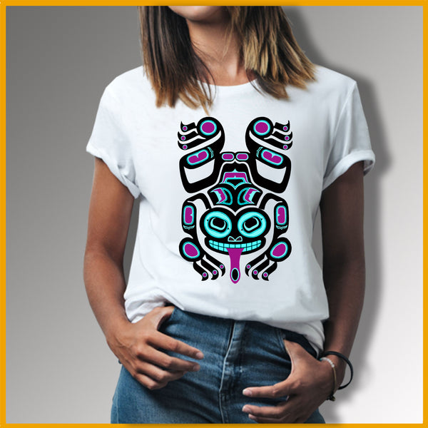T-shirt Grenouille Tribal