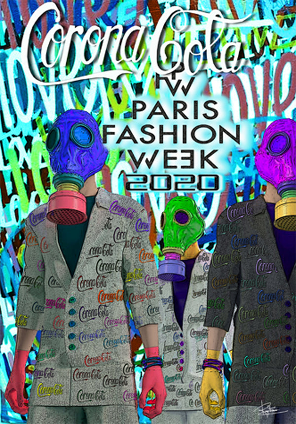 Poster pop art fashion week 2020
