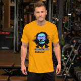 t shirt message homme Dali jaune