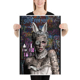 affiche design Alice Wonderland