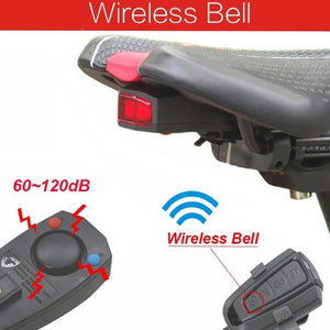 Bicycle Alarm,Intelligent Bike Tail Light, Wireless Anti