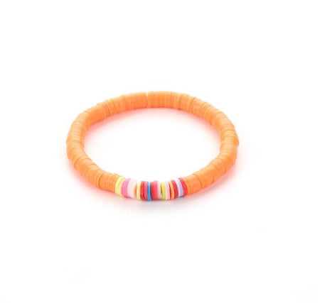 FLURO ORANGE Rainbow Friendship Bracelet