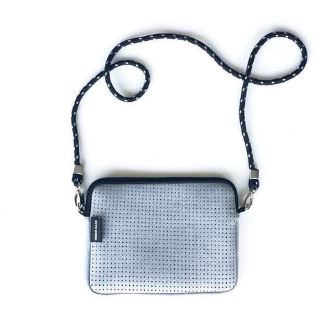 THE PIXIE BAG (GREY MARLE) NEOPRENE CROSSBODY BAG
