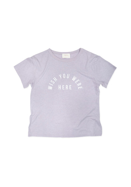 'Wish you were here' Lilac Tee Auguste