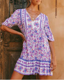 Riley boho Floral Tunic