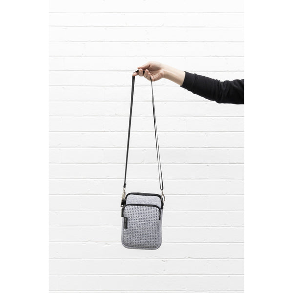 THE MIMI BAG IN GREY MARLE NEOPRENE