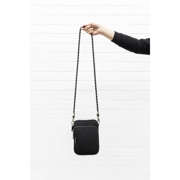 THE MIMI BAG IN BLACK NEOPRENE