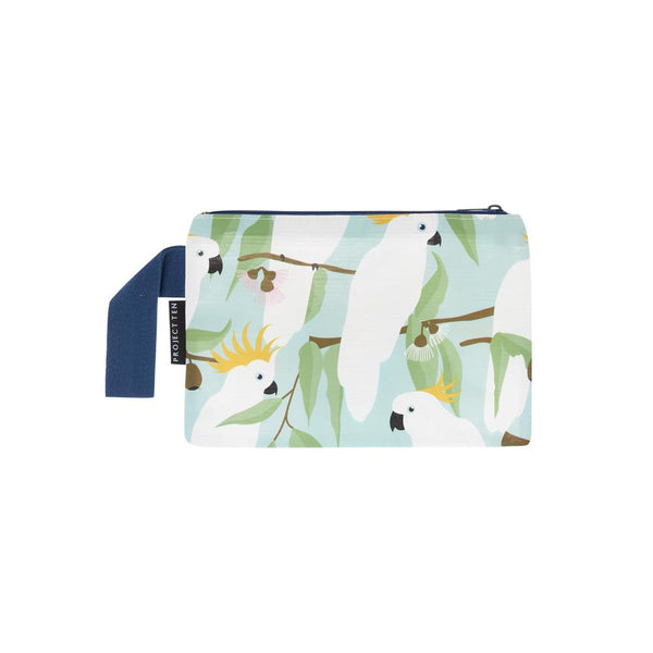 Cockatoo Mini Zip Pouch by Project 10