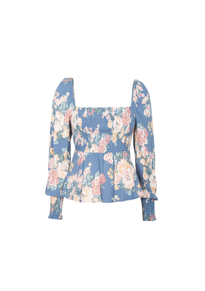Cottage Sunday Blouse Blue by Auguste the label