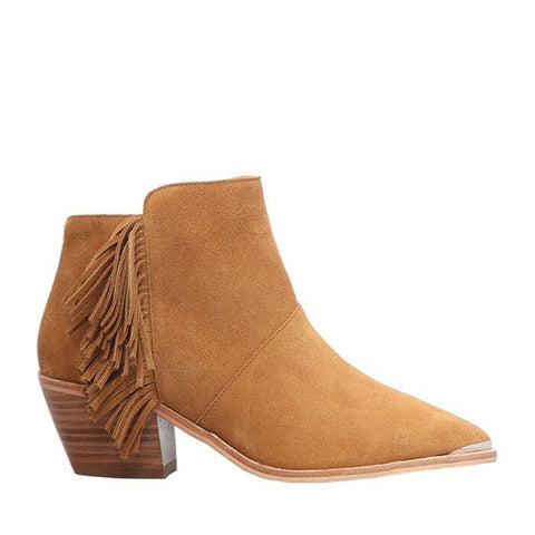 Harley fringed Suede Ankle Boot Tan