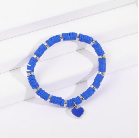 Love Heart Friendship Bracelet in Cobalt Blue