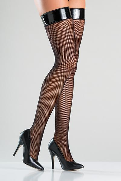Be Wicked 775 Thigh High Stockings Black O-S