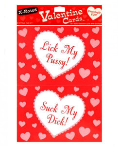 10 X-Rated Valentine Cards with Envelopes