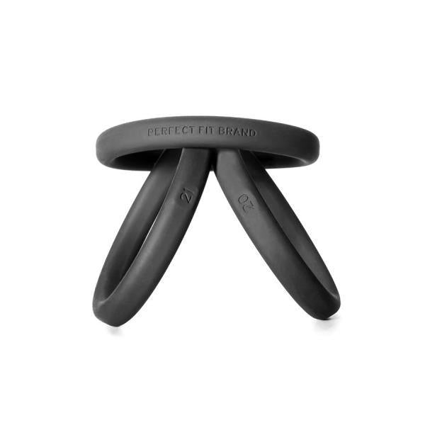 Xact-Fit Silicone Rings #20, #21, #22 Black