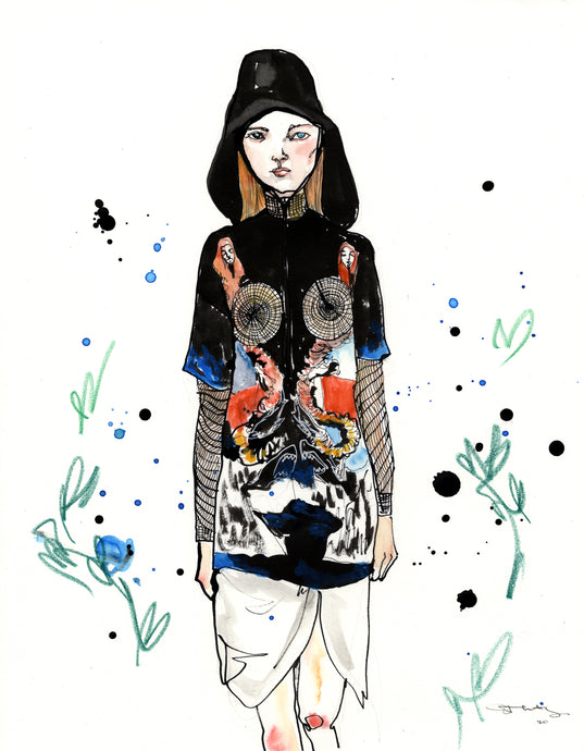 Original Fashion Illustration : Burberry 3