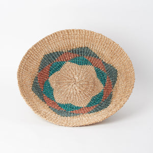 Hand-Woven Abaca Basket in Tan