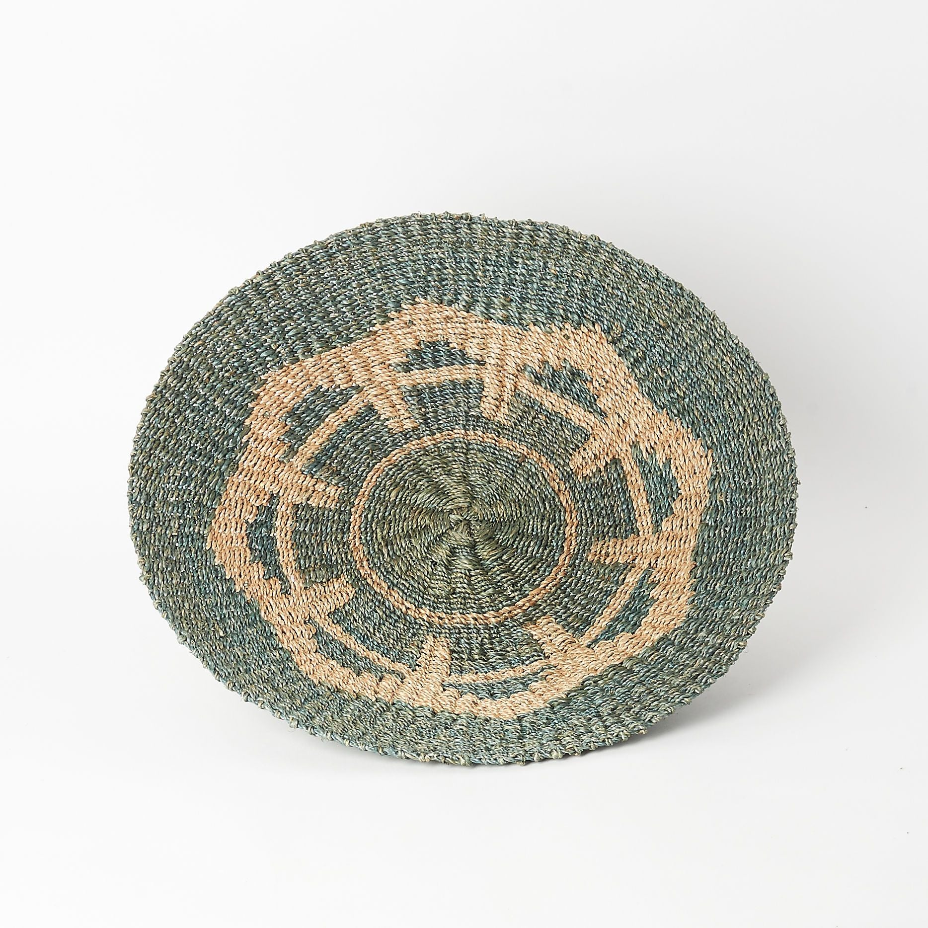 Hand-Woven Abaca Basket in Blue