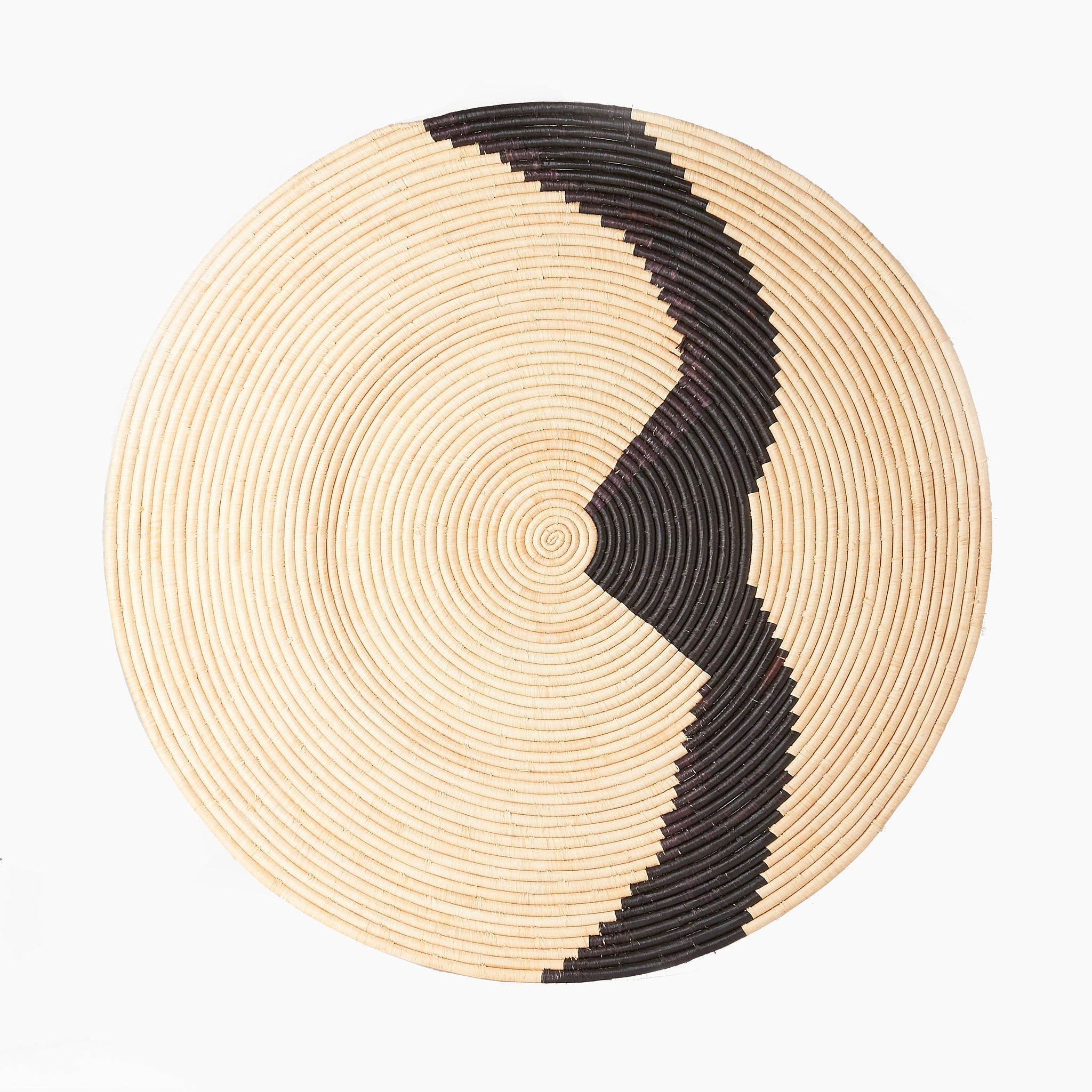 Woven African Wall Basket In Large South Harlow Home
