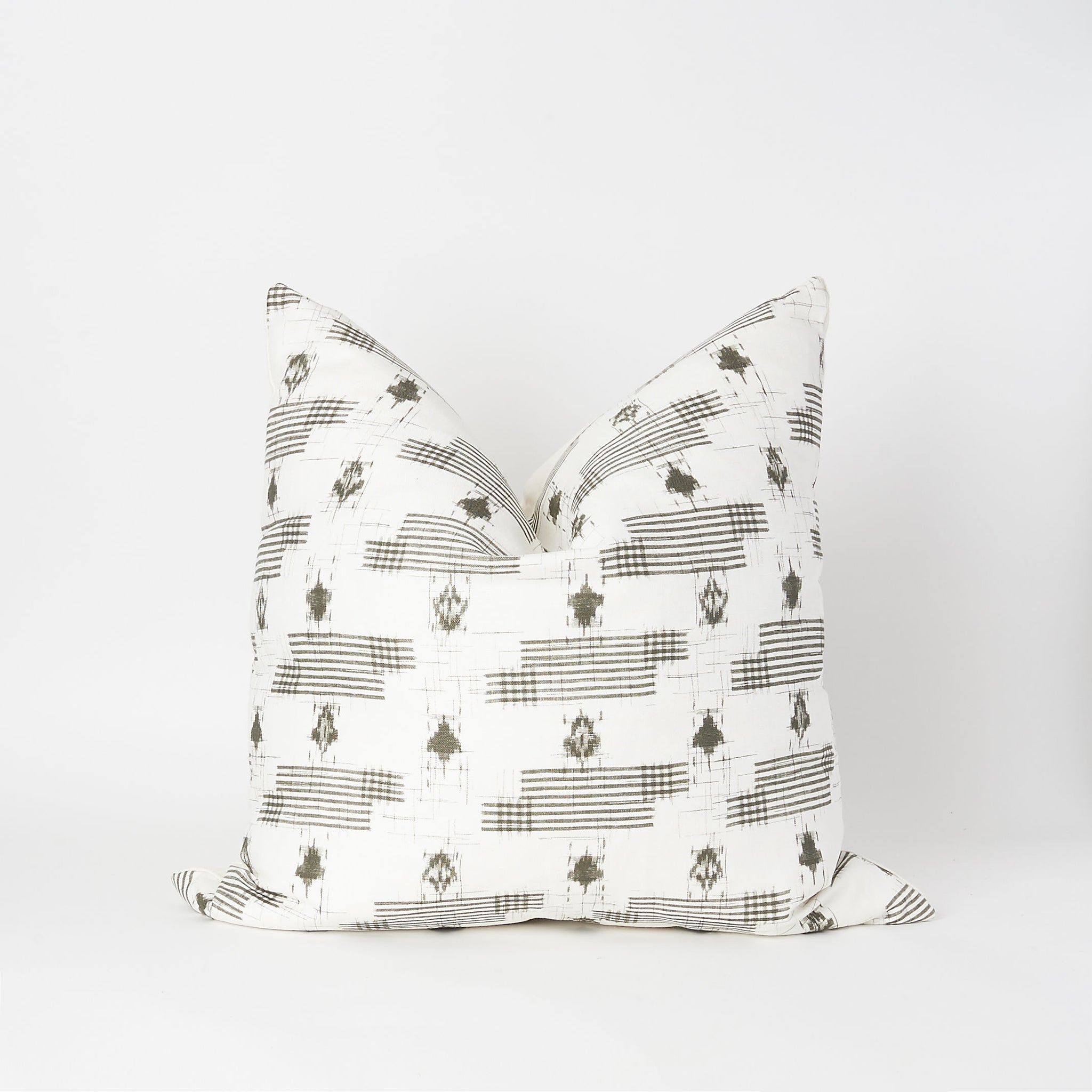 Gingham & Ikat Square Pillow