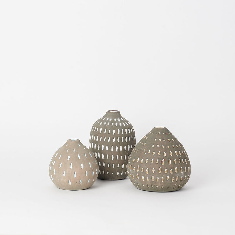 Gray Terra-Cotta Vases
