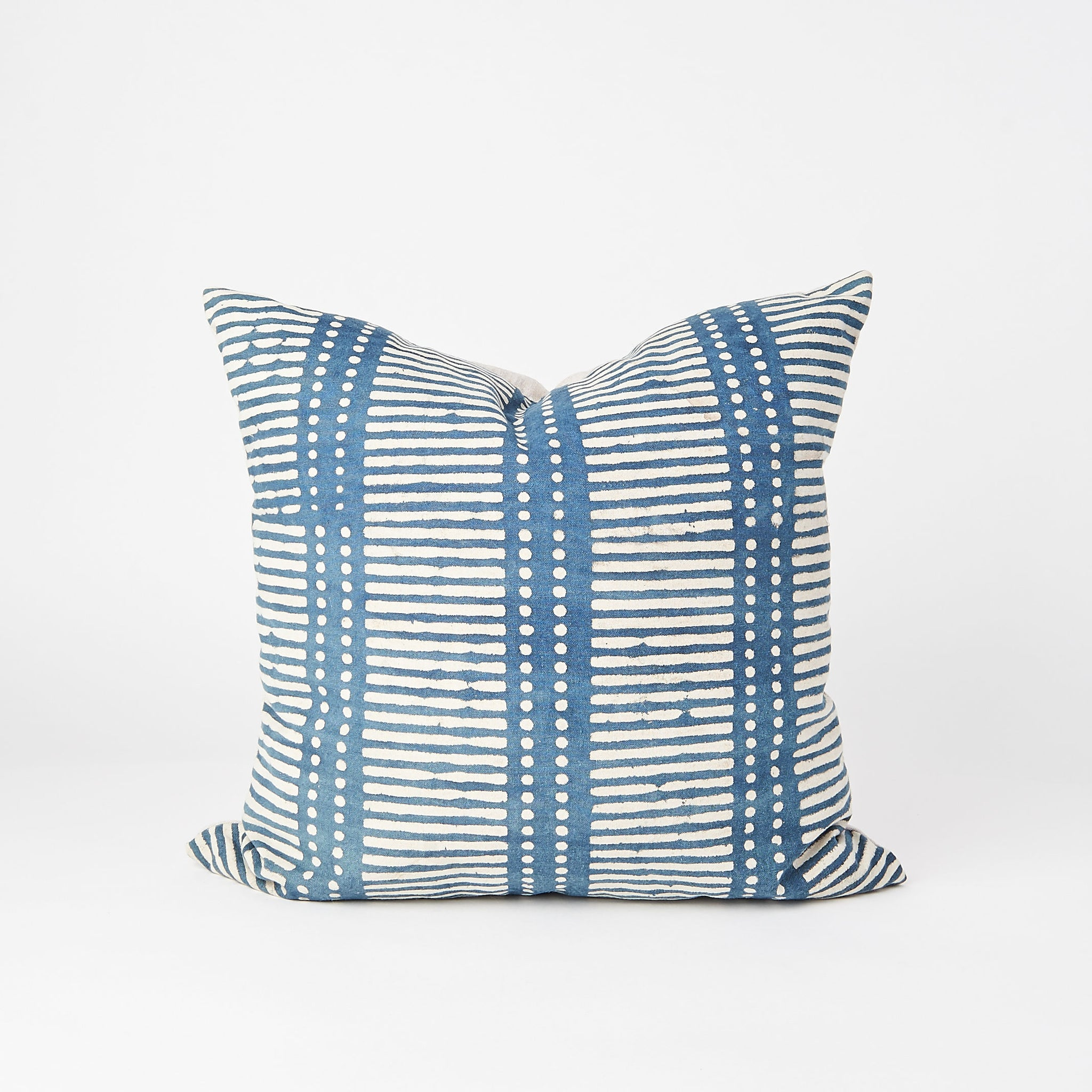 Denim Blue Square Pillow