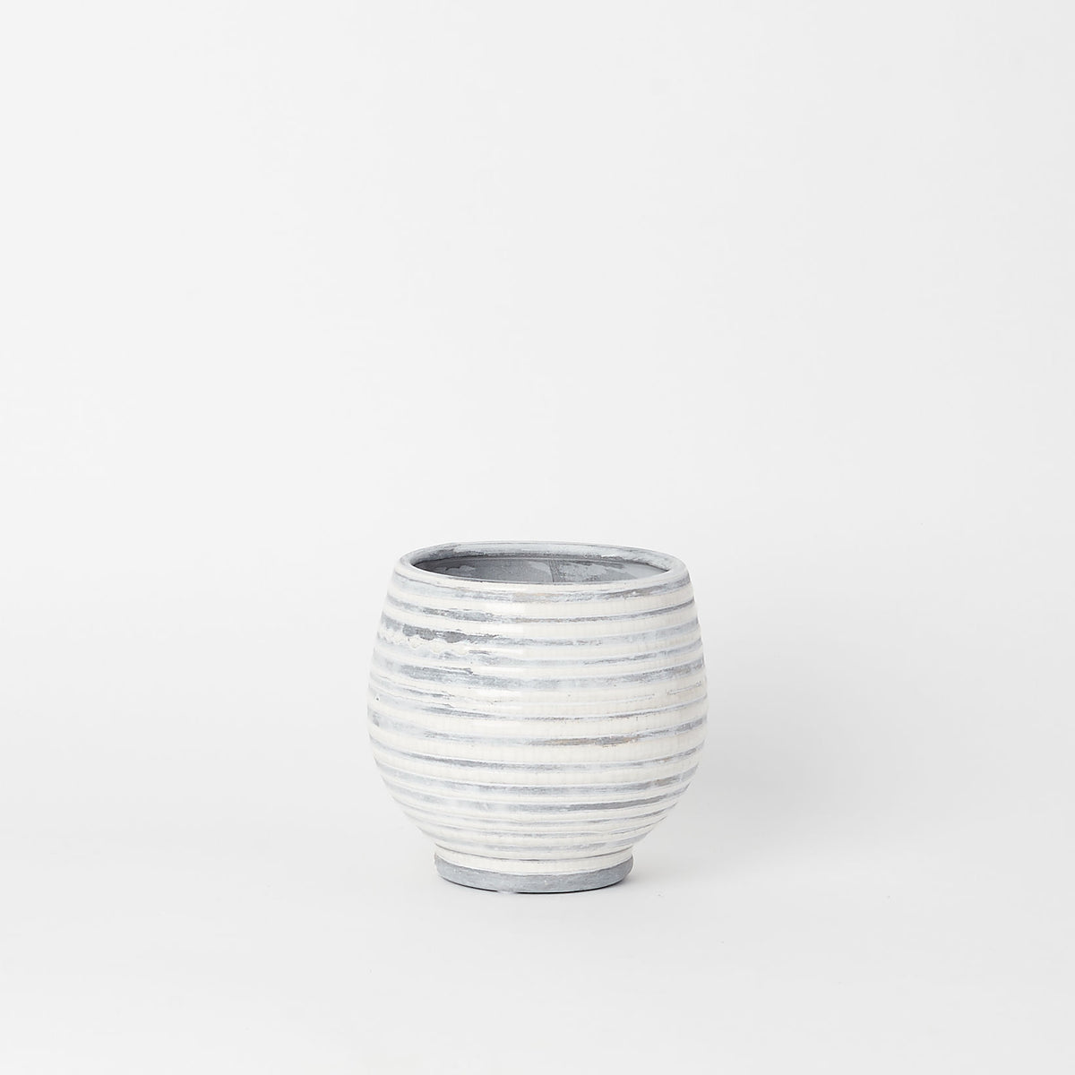 Gray Stoneware Planter