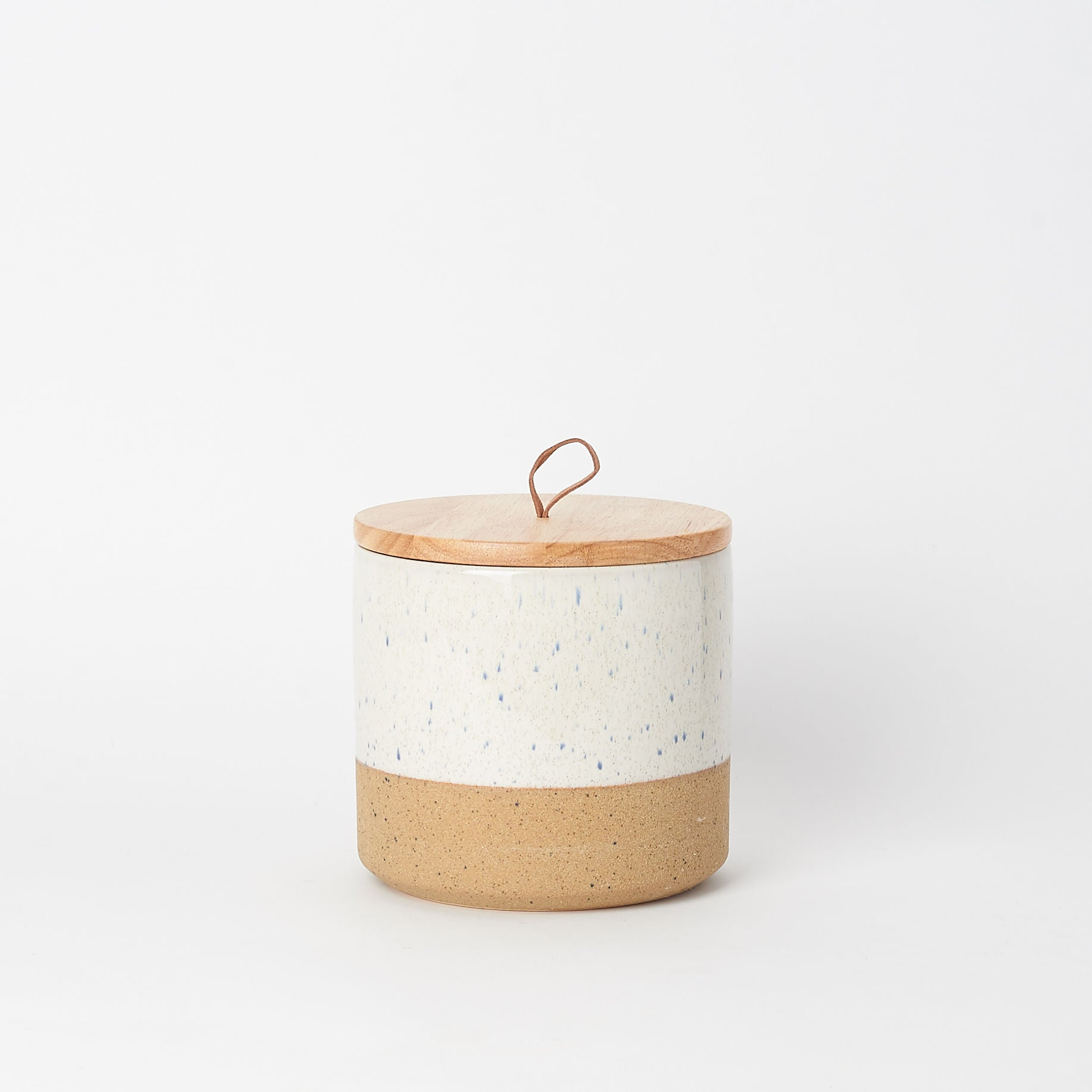 Speckled Stoneware Jar