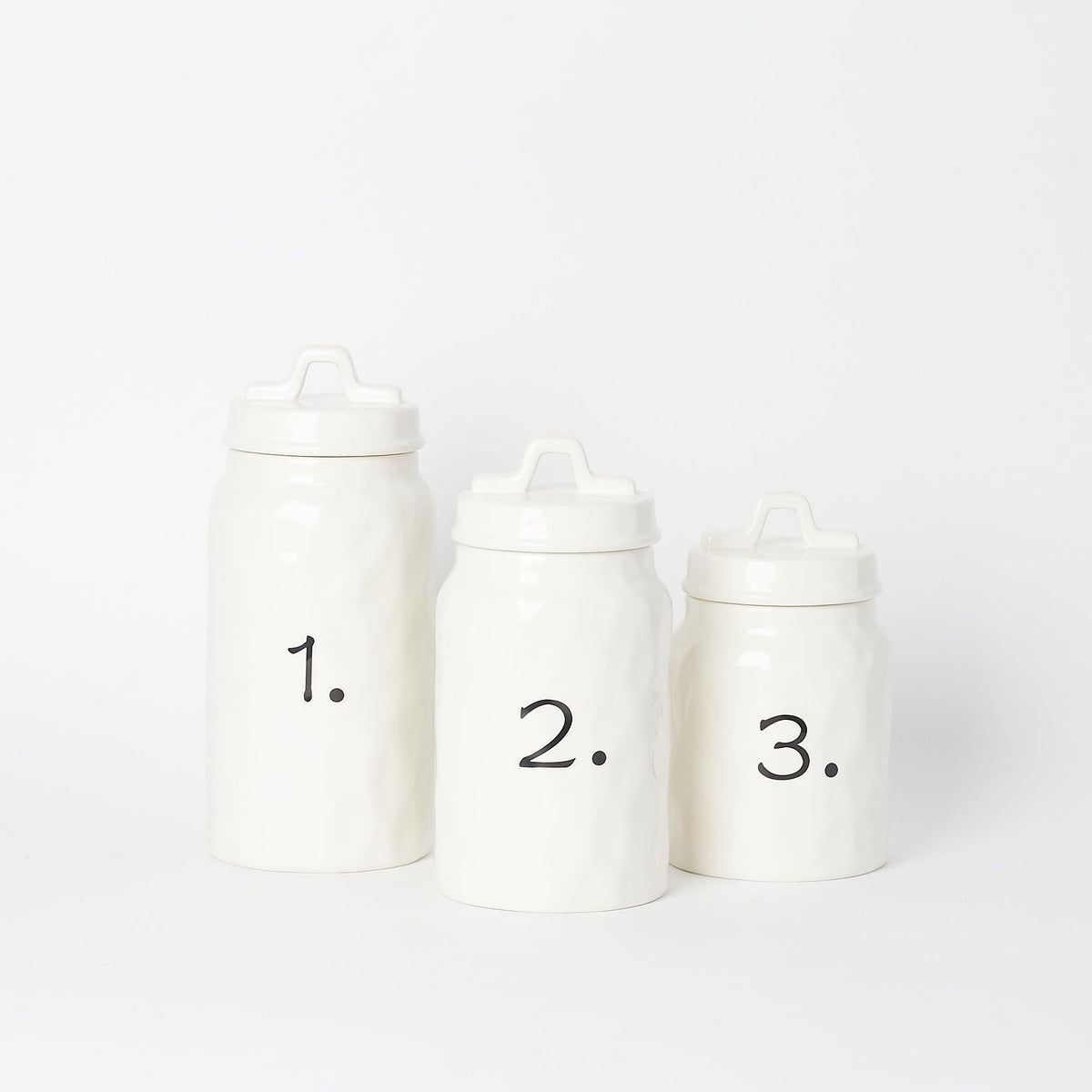 Ceramic Canisters (Set of 3)