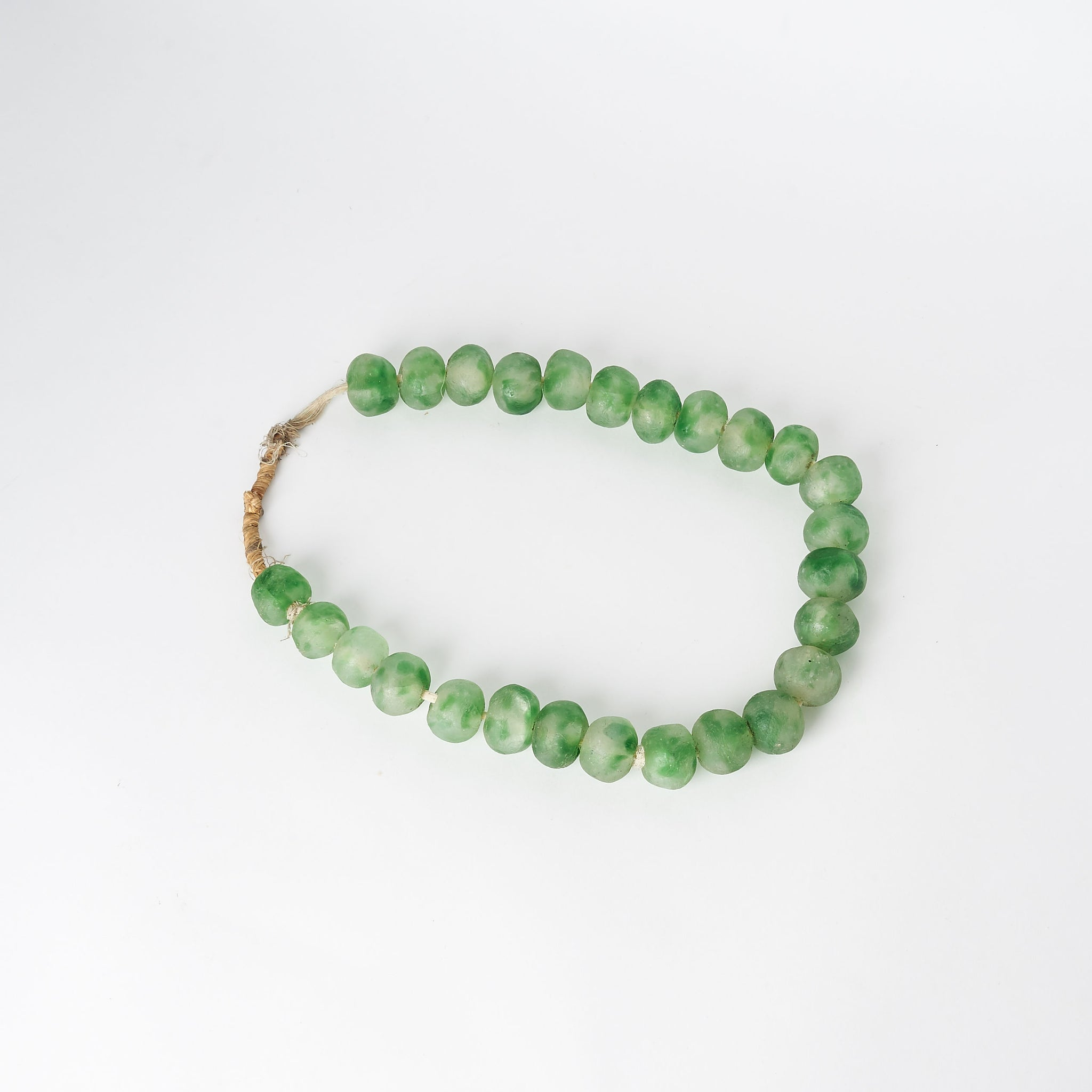 Large Sea Glass Beads in Green