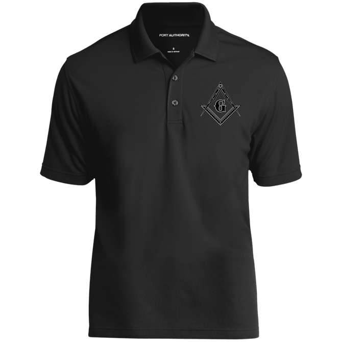 241868c6616 Black Emblem Embroidered Masonic Polo Shirt – MasonicVibe