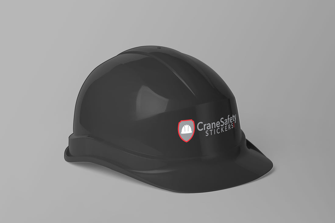 Hard Hat Sticker on A Hard Hat