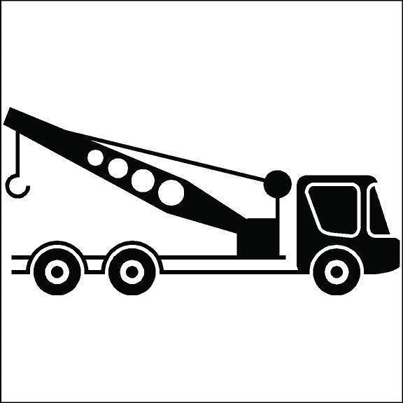 Crane and Boom Truck Safety Decals