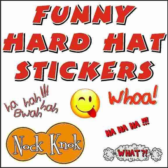 Funny Hard Hat Stickers