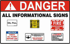 Collection of our informational safety signs and stickers