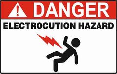 Collection of Electrocution Hazard Signs and Decals