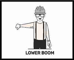 Lower Boom Hand Signal For Crane Operators