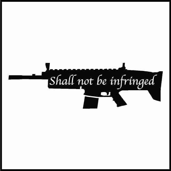 2nd Amendment Shall Not Be Infringed Hard Hat Sticker