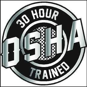 Hard Hat Decal 30 Hour OSHA Trained