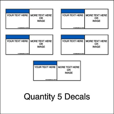 Pack of 5 Custom Safety Decals Ansi Z535 Add Your Own Text Or Graphic Decal