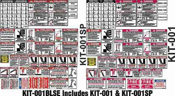 Bilingual Spanish and English Crane Safety Sticker Kit