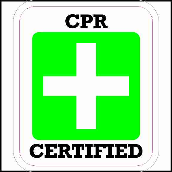 CPR Certified Sticker