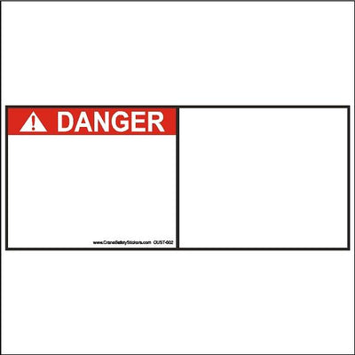 Custom Safety Decal just add your own text or picture.