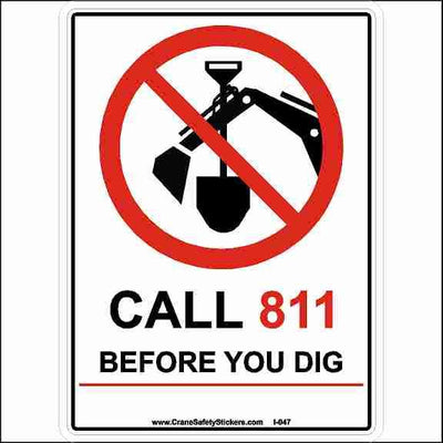 Call Before You Dig Call 811 Before You Dig Sticker