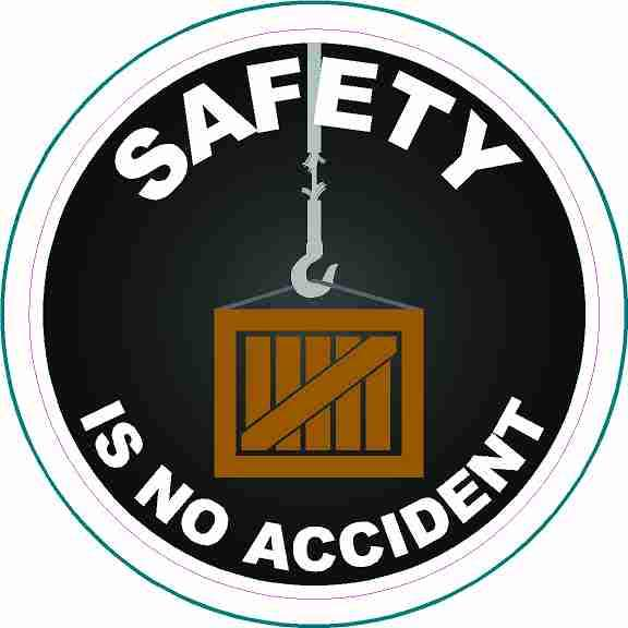 Crane Operator Hard Hat Stickers Safety is No Accident